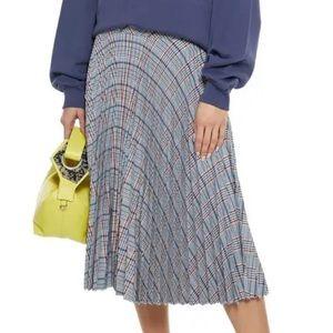 Rag&Bone Woman Alma Pleated Checked Woven Skirt